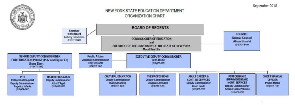 organization chart of new york state education department